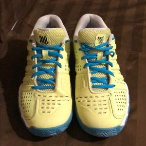 K-Swiss Yellow Running Shoes EUC